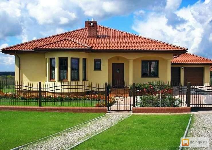 Одноэтажные дома фасад фото